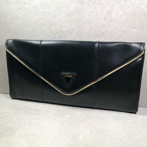 Guess Black Envelope Clutch